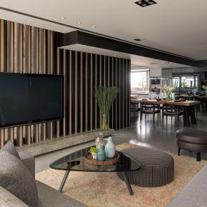 線條俐落營造輕盈多變的視景 現代風 新成屋