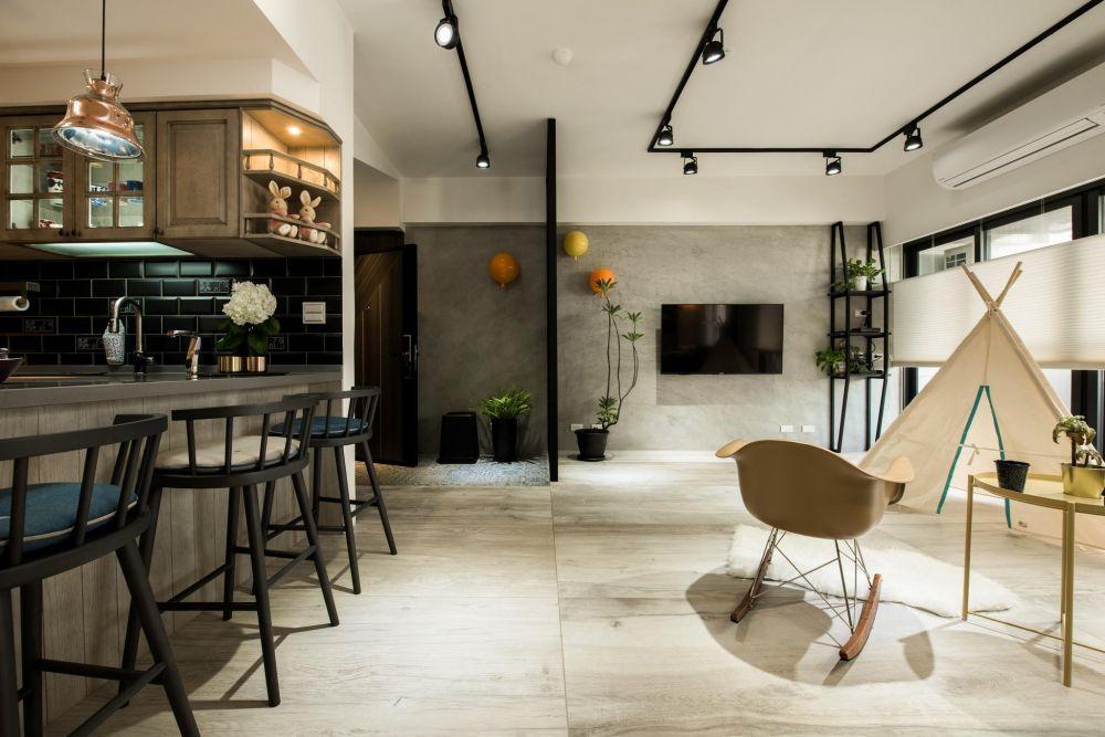 花磚x開放設計,立擁30坪現代簡約質感的親子住宅!
