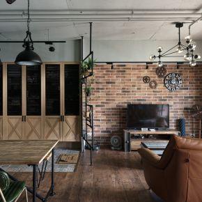 在LOFT風情宅綻放一片藍 工業風 老屋翻新