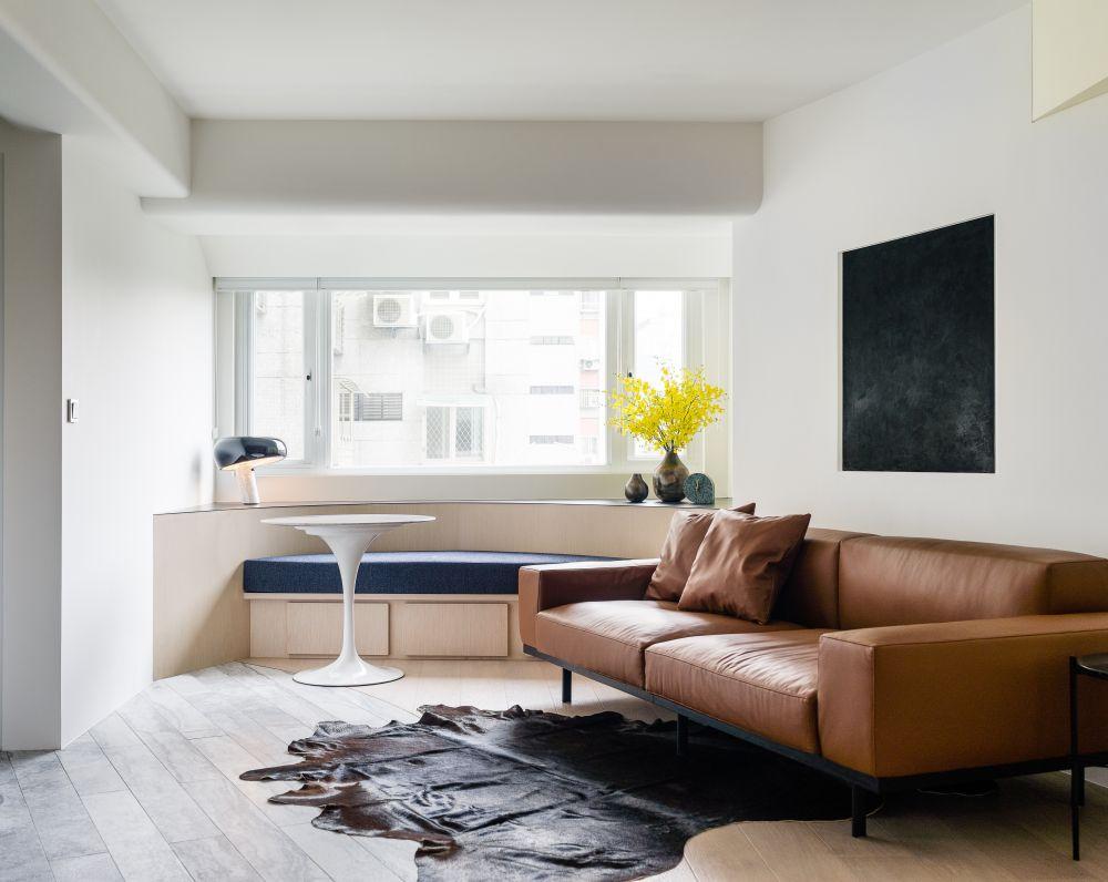 用優雅的弧線 勾勒出柔軟好質感的單身公寓