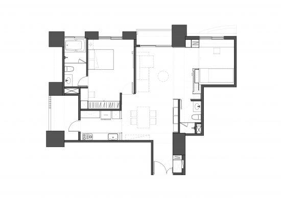 25坪簡約舒適度假宅 - 現代風 - 21-35坪