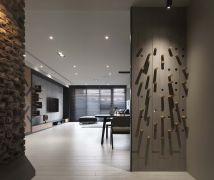 長牆的演繹 遊走風格與材料之間 - 現代風 - 36-50坪