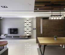 光影的魔法!系統傢俱打造 40 坪輕工業風居家 - 現代風 - 36-50坪