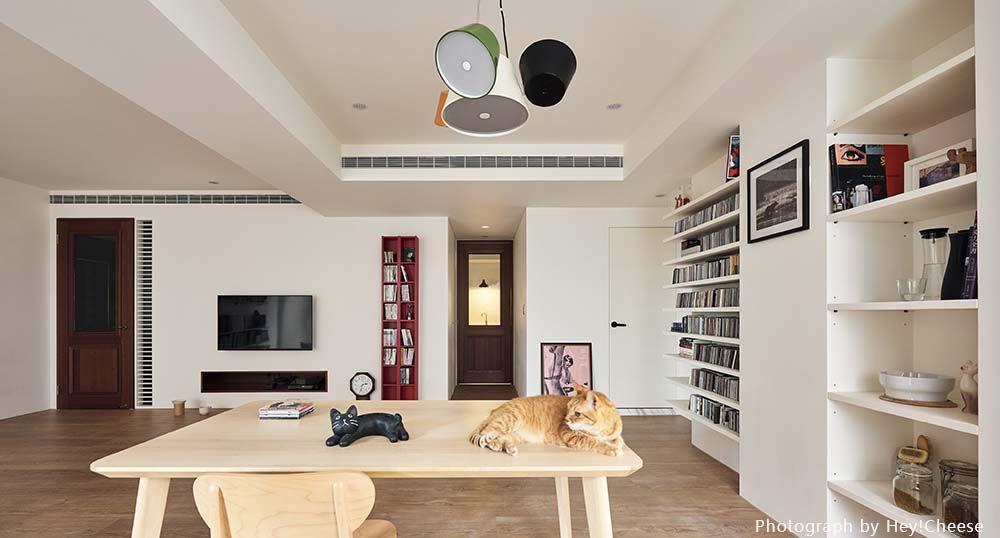 縮小房間擴大公領域,打造迎向日光的書香世家