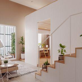 超強採光的9坪機能小宅 現代風 新成屋