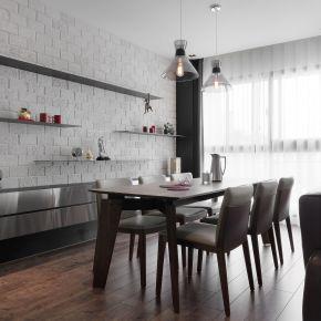 40坪新婚寓所舒適成家 工業風 新成屋