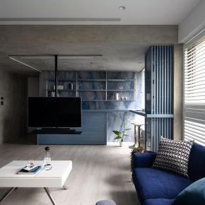 灰階藍調 工業風 新成屋